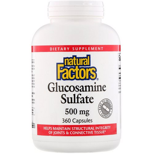 Natural Factors, Glucosamine Sulfate, 500 mg, 360 Capsules Review