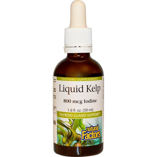 Natural Factors, Liquid Kelp, 800 mcg Iodine, 1.6 fl oz (50 ml) Review