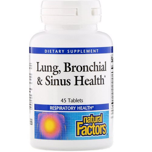 Natural Factors, Lung, Bronchial & Sinus Health, 45 Tablets Review