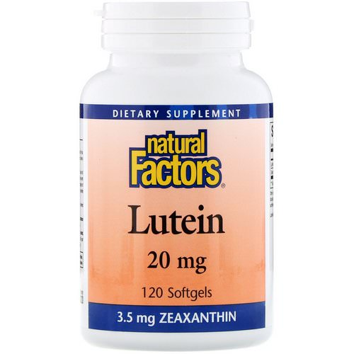 Natural Factors, Lutein, 20 mg, 120 Softgels Review