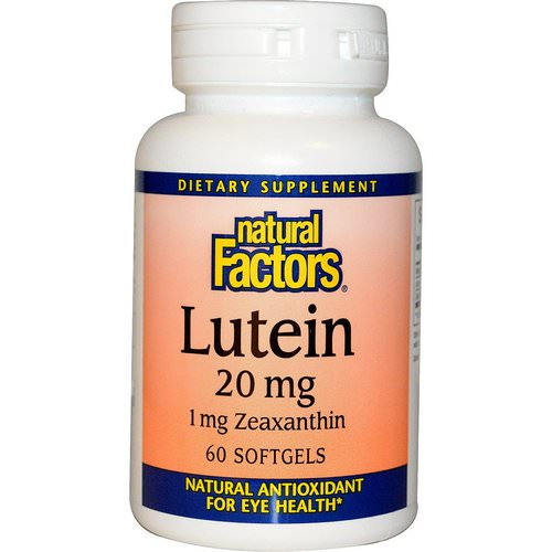 Natural Factors, Lutein, 20 mg, 60 Softgels Review