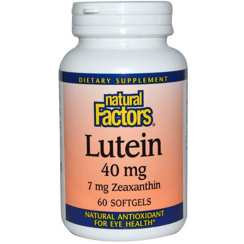 Natural Factors, Lutein, 40 mg, 60 Softgels Review
