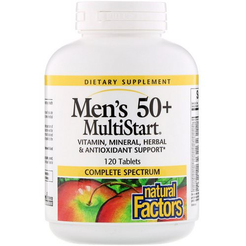 Natural Factors, Men's 50+ MultiStart, 120 Tablets Review