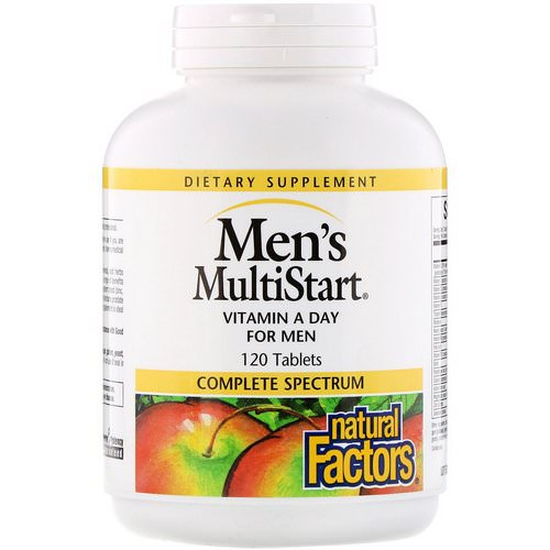 Natural Factors, Men's MultiStart, VitaMin A Day for Men, 120 Tablets Review