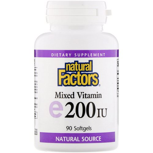 Natural Factors, Mixed Vitamin E, 200 IU, 90 Softgels Review