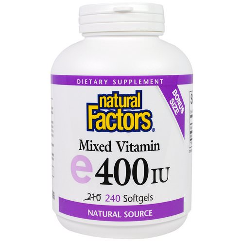 Natural Factors, Mixed Vitamin E, 400 IU, 240 Softgels Review