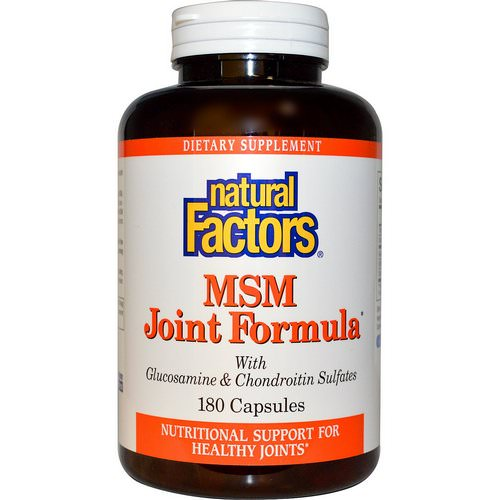 Natural Factors, MSM Joint Formula, 180 Capsules Review