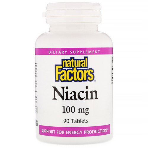 Natural Factors, Niacin, 100 mg, 90 Tablets Review