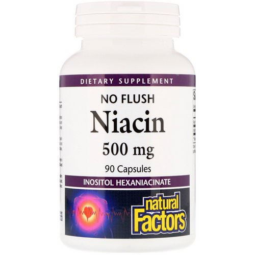 Natural Factors, No Flush Niacin, 500 mg, 90 Capsules Review