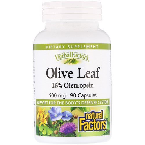 Natural Factors, Olive Leaf, 500 mg, 90 Capsules Review