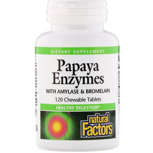 Natural Factors, Papaya Enzymes with Amylase & Bromelain, 120 Chewable Tablets Review