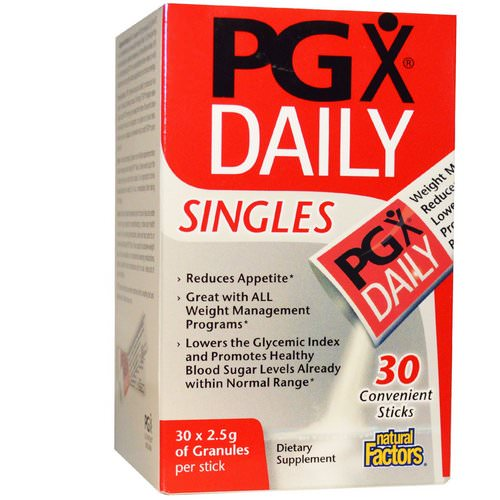 Natural Factors, PGX Daily, Singles, Unflavored Granules, 30 Sticks, (2.5 g) Each Review