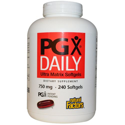 Natural Factors, PGX Daily, Ultra Matrix Softgels, 750 mg, 240 Softgels Review