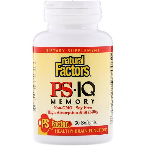 Natural Factors, PS• IQ Memory, 60 Softgels Review