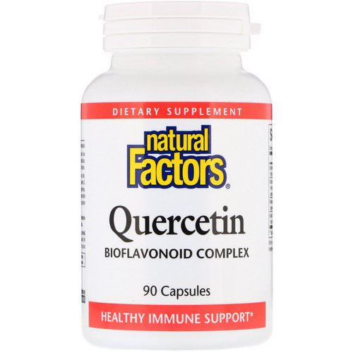 Natural Factors, Quercetin, Bioflavonoid Complex, 90 Capsules Review