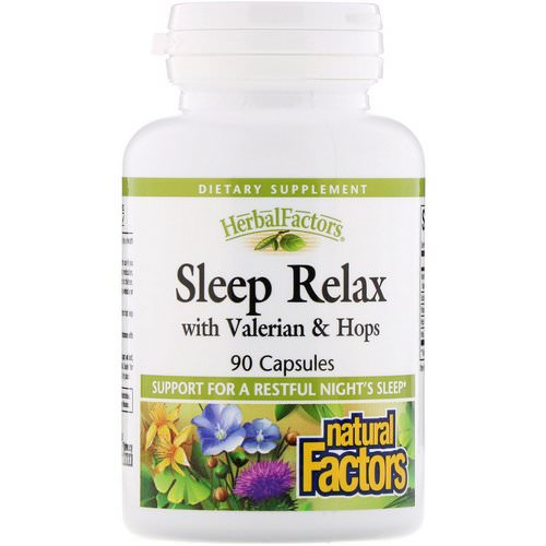 Natural Factors, Sleep Relax with Valerian & Hops, 90 Capsules Review