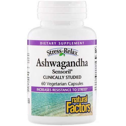 Natural Factors, Stress-Relax, Ashwagandha, Sensoril, 60 Vegetarian Capsules Review