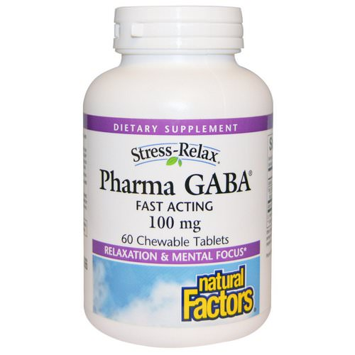Natural Factors, Stress-Relax, Pharma GABA, 100 mg, 60 Chewable Tablets Review