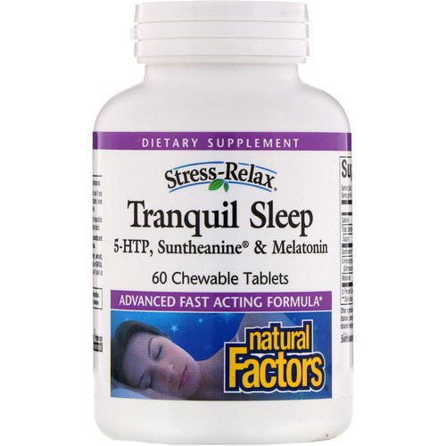 Natural Factors, Stress-Relax, Tranquil Sleep, 60 Chewable Tablets Review