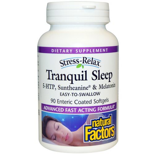 Natural Factors, Stress-Relax, Tranquil Sleep, 90 Enteric Coated Softgels Review