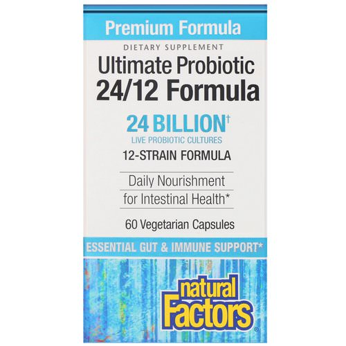 Natural Factors, Ultimate Probiotic, 24/12 Formula, 24 Billion CFU, 60 Vegetarian Capsules Review