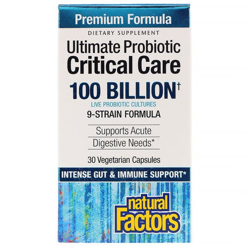 Natural Factors, Ultimate Probiotic Critical Care, 100 Billion CFU, 30 Vegetarian Capsules Review