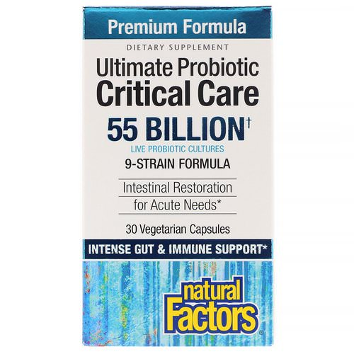 Natural Factors, Ultimate Probiotic, Critical Care, 55 Billion CFU, 30 Vegetarian Capsules Review