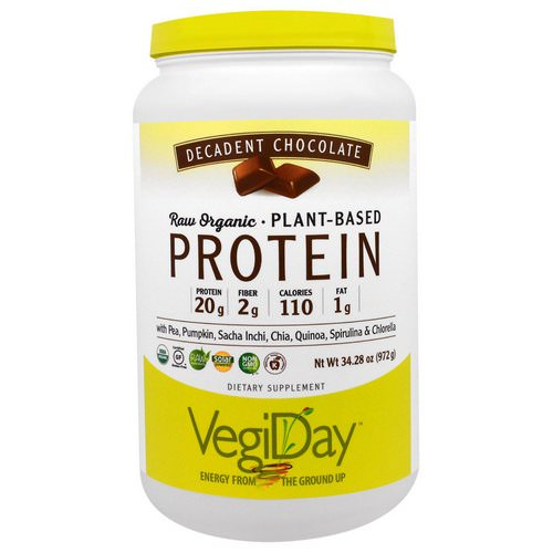 Natural Factors, Raw Organic Plant-Based Protein, Decadent Chocolate, 2.14 lbs (972 g) Review
