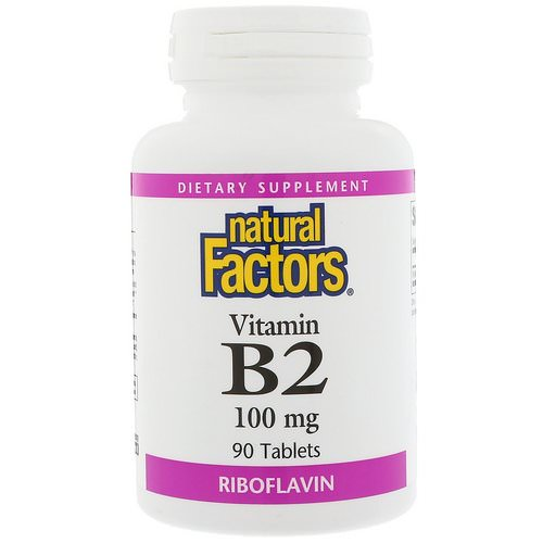 Natural Factors, Vitamin B2 Riboflavin, 100 mg, 90 Tablets Review