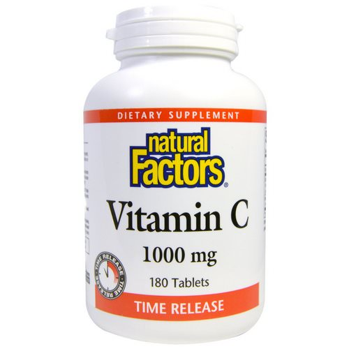 Natural Factors, Vitamin C, Time Release, 1000 mg, 180 Tablets Review