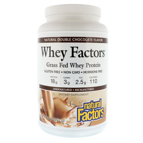 Natural Factors, Whey Factors, Grass Fed Whey Protein, Natural Double Chocolate Flavor, 2 lbs (907 g) Review