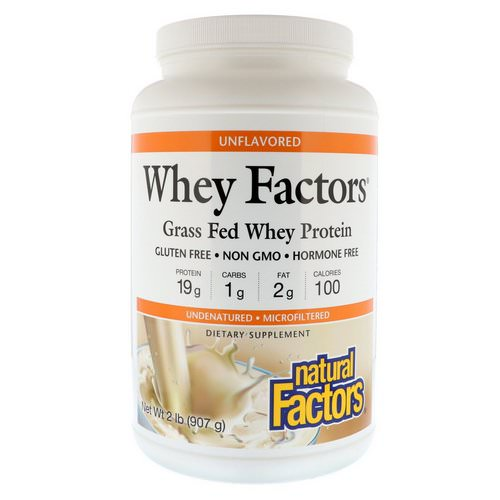 Natural Factors, Whey Factors, Grass Fed Whey Protein, Unflavored, 2 lbs (907 g) Review