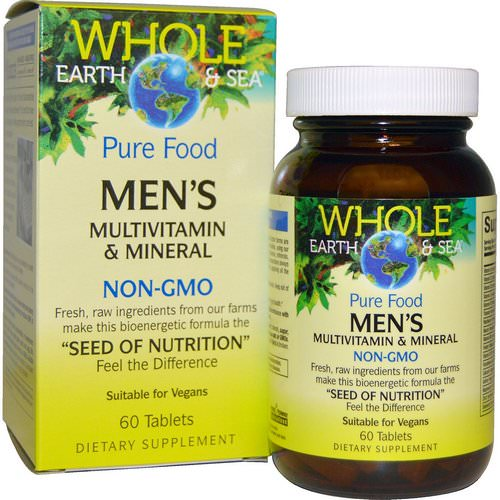 Natural Factors, Whole Earth & Sea, Men's Multivitamin & Mineral, 60 Tablets Review