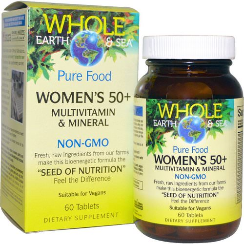 Natural Factors, Whole Earth & Sea, Women's 50+ Multivitamin & Mineral, 60 Tablets Review