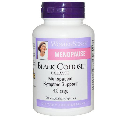 Natural Factors, WomenSense, Menopause, Black Cohosh Extract, 40 mg, 90 Veggie Caps Review