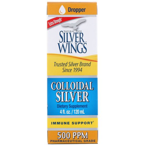 Natural Path Silver Wings, Colloidal Silver, Extra Strength, 500 PPM, 4 fl oz (120 ml) Review