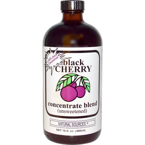 Natural Sources, Black Cherry Concentrate Blend (Unsweetened), 16 fl oz (480 ml) Review