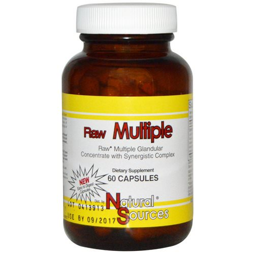 Natural Sources, Raw Multiple, 60 Capsules Review