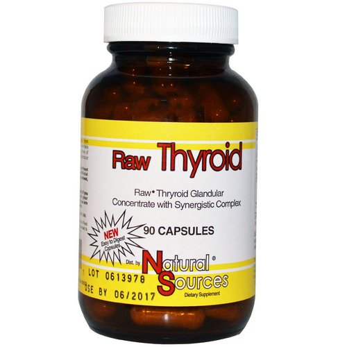 Natural Sources, Raw Thyroid, 90 Capsules Review