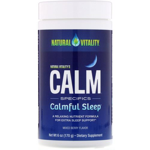 Natural Vitality, Calm, Calmful Sleep, Mixed Berry Flavor, 6 oz (170 g) Review