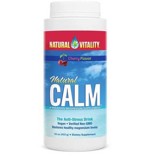 Natural Vitality, Natural Calm, The Anti-Stress Drink, Cherry Flavor, 16 oz (453 g) Review