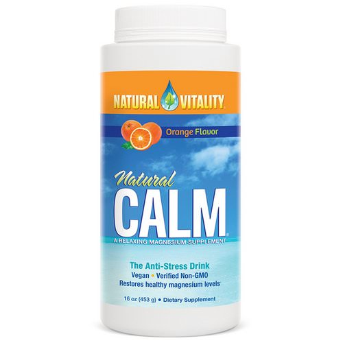 Natural Vitality, Natural Calm, The Anti-Stress Drink, Organic Orange Flavor, 16 oz (453 g) Review