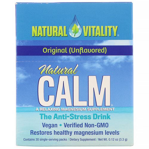 Natural Vitality, Natural Calm, The Anti-Stress Drink, Original, 30 Single-Serving Packs, 0.12 oz (3.3 g) Each Review
