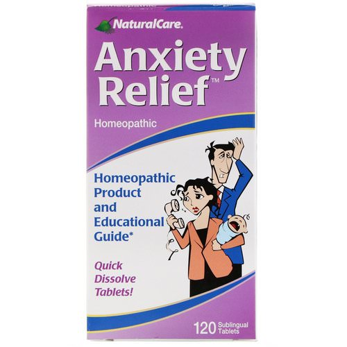 NaturalCare, Anxiety Relief, 120 Sublingual Tablets Review