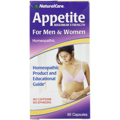 NaturalCare, Appetite, Maximum Strength, For Men & Women, No Caffeine, 60 Capsules Review