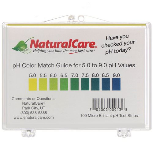 NaturalCare, pH Test Strips, 100 Strips Review