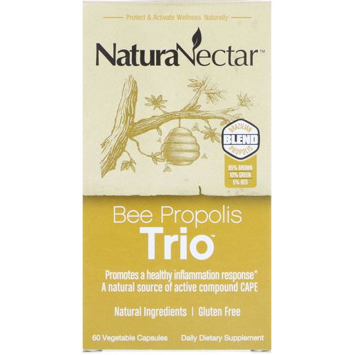 NaturaNectar, Bee Propolis Trio, 60 Vegetable Capsules Review