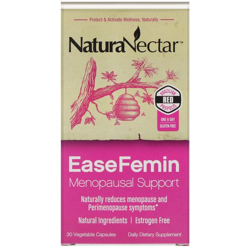 NaturaNectar, EaseFemin, Menopausal Support, 30 Vegetable Capsules Review