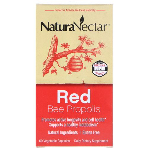 NaturaNectar, Red Bee Propolis, 60 Vegetable Capsules Review