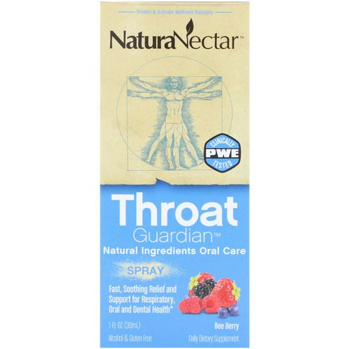 NaturaNectar, Throat Guardian Spray, Bee Berry, 1 fl oz (30 ml) Review